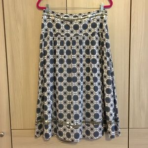 Tory Burch blue and white cotton skirt